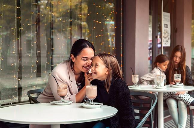Restaurante com a Filha